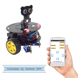 Adeept 3WD Bluetooth Smart Robot Car Kit Stem Arduino Starter Learning Kit For Arduino UNO R3 (With Development Board) For Child