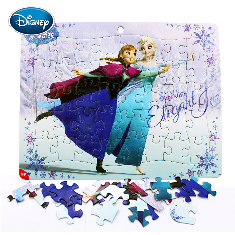 Disney 40 Piece Snow White / Frozen / Mickey / Super Flying Man Series Puzzle 3-5 Years Children Educational Toy Jigsaw Kid GIft