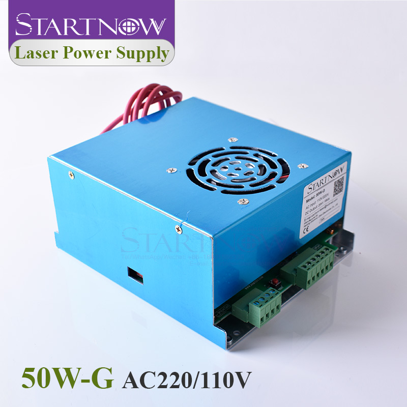 Startnow 50W-G Laser Power Supply 50W Watt 45W PUS 55W 110V 220V MYJG-50 For CO2 Laser Engraving Marking Machine Spare Parts