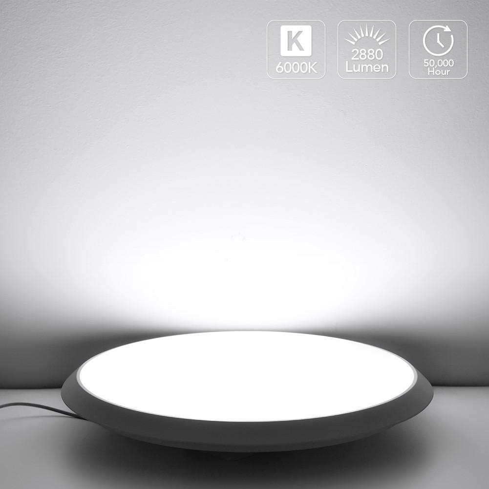 LED Ceiling Light Cold White Lamp,220V 36W/48W/60W IP44 80Ra Energy Saving Lamp For Panel Bedroom Dining Room Living Room