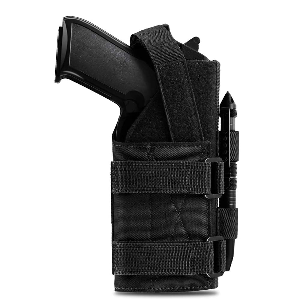 Tático coldre de arma 1000d molle cinto modular bolsa pistola para 9mm 1911 glock rifle coldre com aro removível e laço
