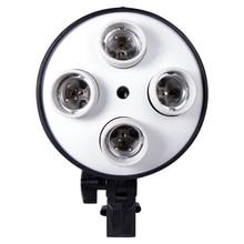 E27 Base Four Lamp Holder  Light Bulb Use For Softbox Kit  4 in 1 For Photo Photography Studio