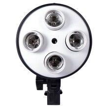 E27 taban dört lamba tutucu ampul kullanımı Softbox kiti 4 in 1 fotoğraf fotoğraf stüdyosu