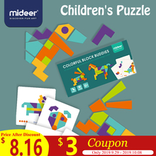 MiDeer Baby Tangram Toy Early Education 6Y+ Colorful Creativity Math Wooden Imagination Safety Intelligence Blocks Toys