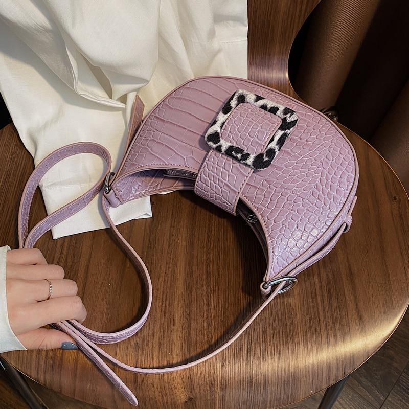 Elegant Female Small Tote Bag 2020 Summer New High Quality PU Leather Women's Handbag Crocodile Pattern Shoulder Messenger Bag