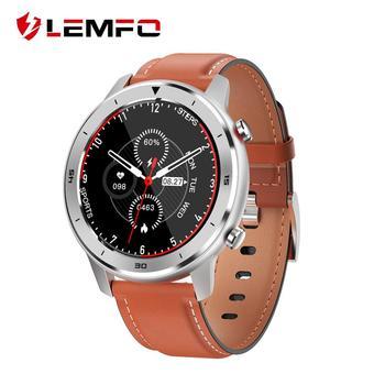 LEMFO Smart Watch Men IP68 Waterproof 1.3 Inch Full Round Touch Screen Heart Rate Blood Pressure Clock for Boy Friend Gift Watch 1