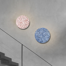 JMZM Nordic Wall Lamp Terrazzo Marble Round Sconces Light For Bedroom Aisle Stair Bathroom Colorful Creative wall Light Fixture