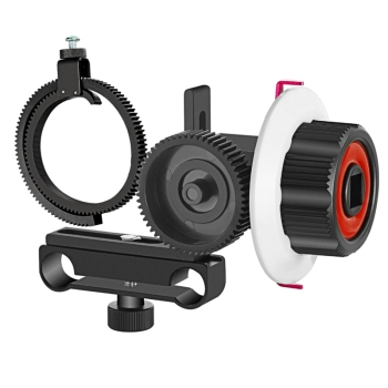 Follow Focus with Gear Ring Belt for Canon and Other DSLR Camera Camcorder DV Video Fits 15mm Rod Film Making System
