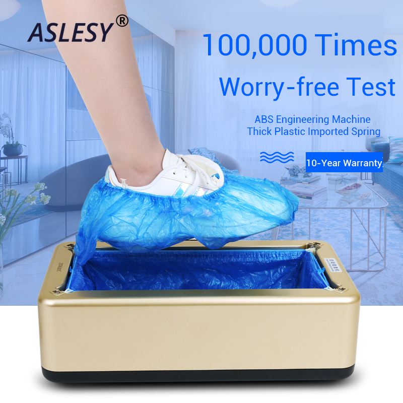 Automatic Shoes Cover Machine Household Stepping Disposable Booties Maker Shoe Film Machine Smart Shoe Cover Dispenser Hand Free