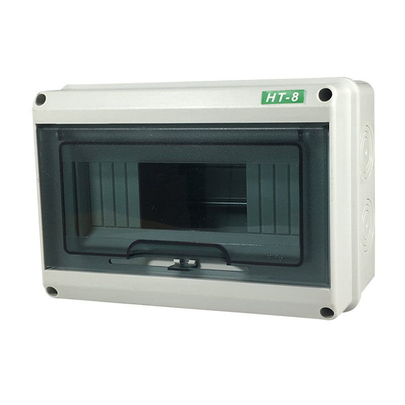 Outdoor electric box HT-8 circuit waterproof distribution box outdoor small electric box rain-proof open box for household use