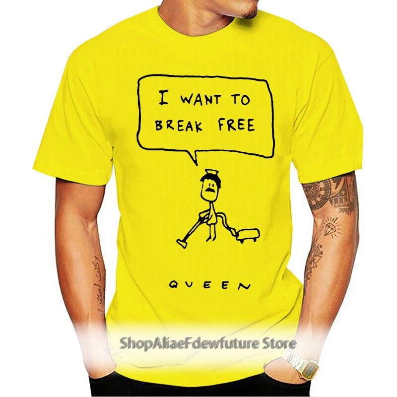Queen I Want To Break Free Ladies T Shirt White Cotton S 3Xl Fashion Tee Shirt