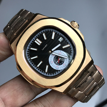Luxury brand watch PP automatic self winding glide smooth black dial AAA quality all small sub dials works 315L stainless steel цена и фото
