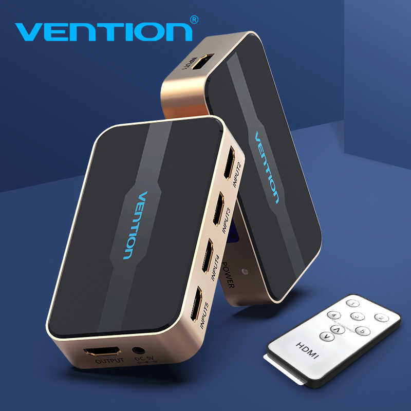 Ventie Hdmi Switch 5X1 Hdmi Splitter 5 Ingang 1 Uitgang Adapter Voor Xbox 360 PS4 Smart Android Hdtv 4K 5 In 1 Out Hdmi Switcher