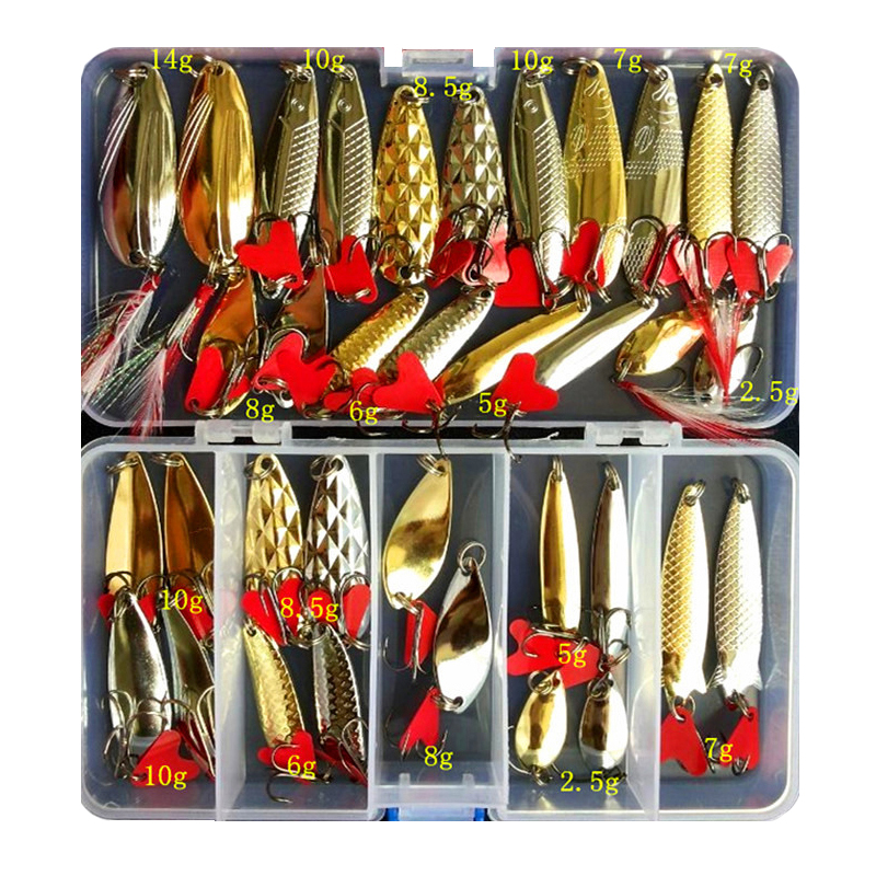 Fishing-Lure-Set Spoon Bait Wobblers Metal Jig Pesca Artificial Brilliant Isca Hot 10/20/25/35pcs-sequin-kit title=