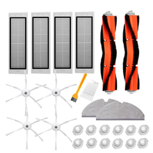 2 Main Brush + 4 Filter 6-Arms Side Cleaning Rag 12 Water Tank Set for Xiaomi Roborock Robot