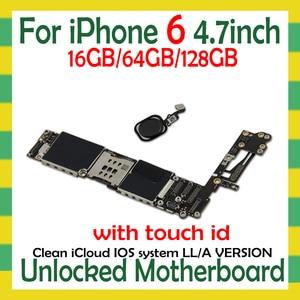 Image 1 - Sbloccato per iphone 6 Scheda Madre con/senza Touch ID per iphone 6 Schede Logiche con IOS funzione di Impronte Digitali