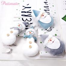 PATIMATE Christmas Plush Doll Tree Decoration Merry Decorations For Home 2019 Navidad Gifts New Year 2020