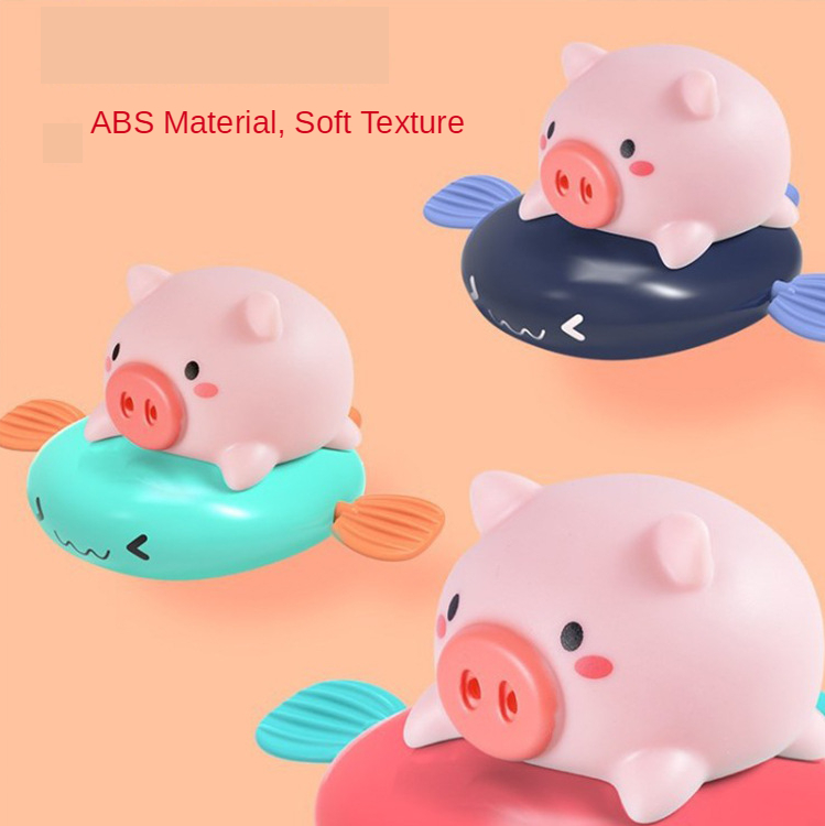 Children's baby swimming bathing water spring clockwork bath toys small animals duck turtle whale pig penguin water spray