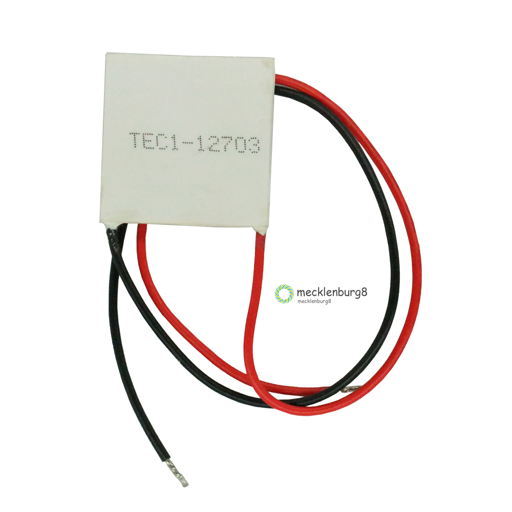 TEC1-12703 TEC1 12703 <font><b>AC</b></font> / <font><b>DC</b></font> 12 <font><b>V</b></font> TEC Thermoelectric Peltier Cooler <font><b>40</b></font> * <font><b>40</b></font> m Peltier Elemente cooling module P / N: plate image