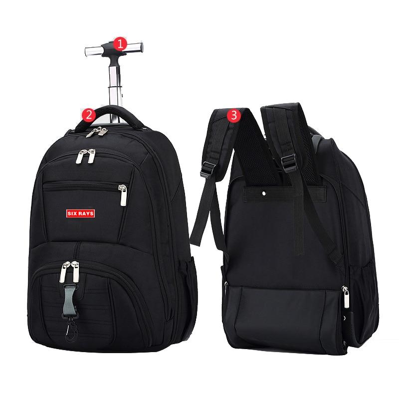 Hot Sale Men's Travel Bag Man Backpack Polyester Bags Waterproof Computer Packsack Brand Design Backpacks Trolley Backpack