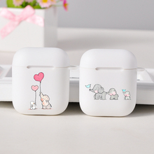 Cartoon Cute Cases For Apple AirPods 1/2 Lovely White Dumbo Baby Elephant For Apple Wireless bluetooth Airpods  Protection Cover