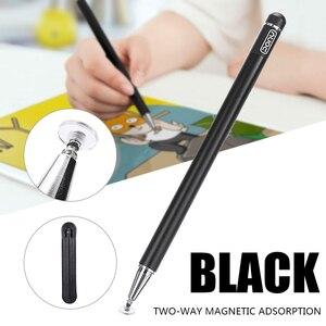1 pc rysik ołówek dotykowy dla Ipad Tablet długopisy rysunek ołówki 2w1 podwójny napisany pojemnościowy ekran pióro do telefonu komórkowego PC długopis