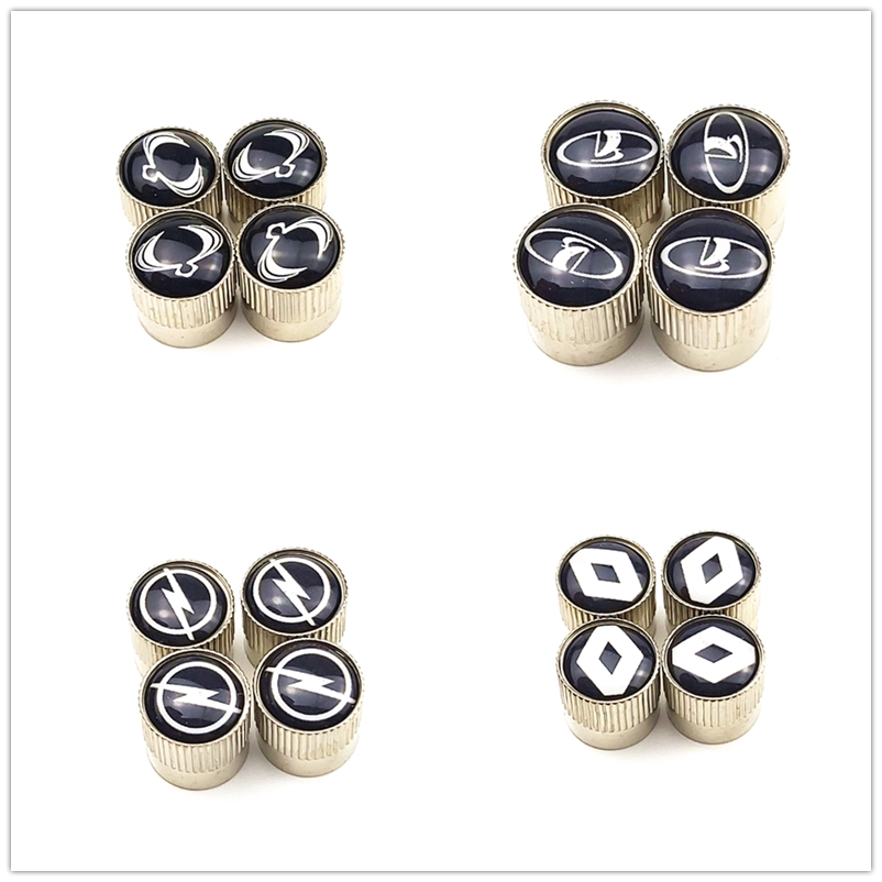 4pcs Metal Wheel Tire Valve Caps Stem Case For Skoda Renault Toyota Mazda Ford Opel Opel Chevrolet Audi Bmw Car Accessories