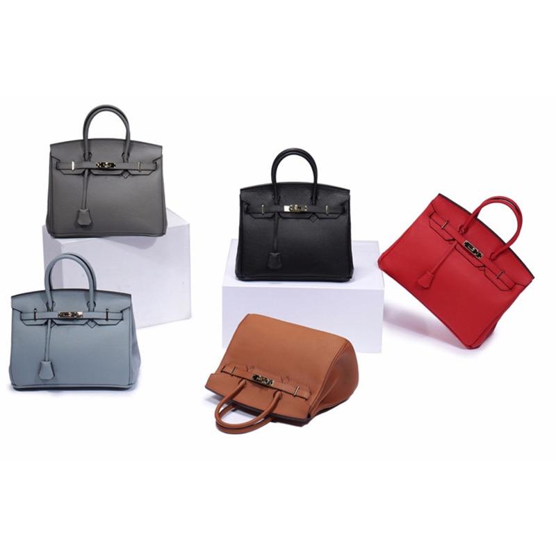 Женская сумка из натуральной кожи 2019, роскошные сумки через плечо, дизайнерский замок сумки через плечо, клатчи известных брендов, сумки - 5