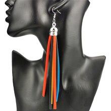 Новые женские серьги подвески ukebay длинные 5 цветов резиновые