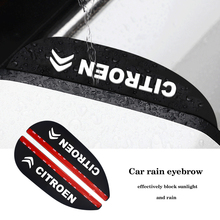 Car-Rearview-Mirror Citroen C4 Eyebrow Xantia Rainproof 2PCS for C1 C5 C3 C6 C8 DS C-ELYSEE