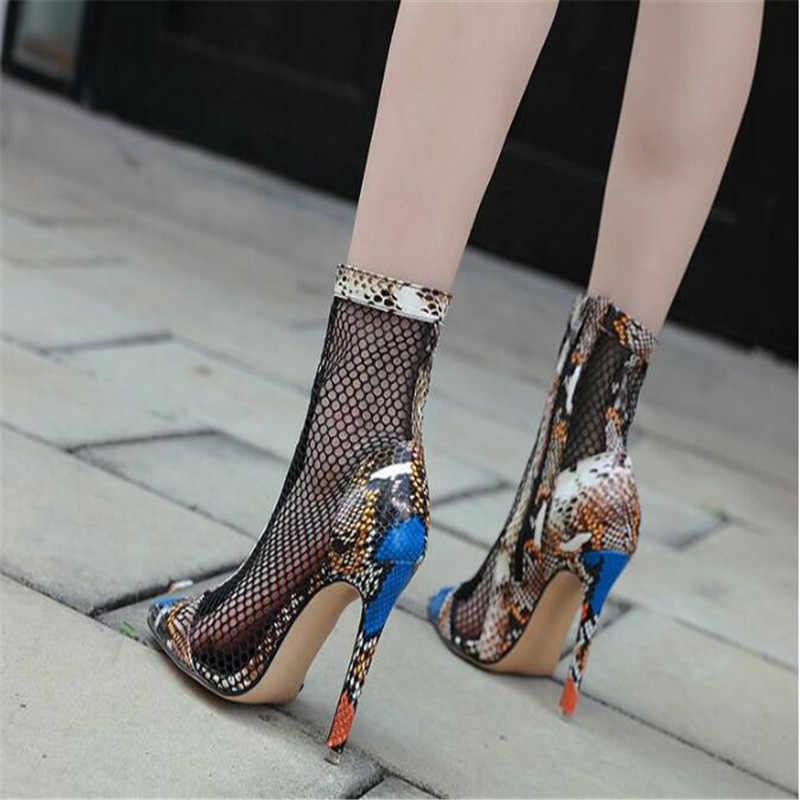 BBZAI yeni desen kadın botları 11cm yüksek topuklu ayakkabılar konfor Bottines moda gösterisi sahne performansı gece kulübü abd 4 -8 9