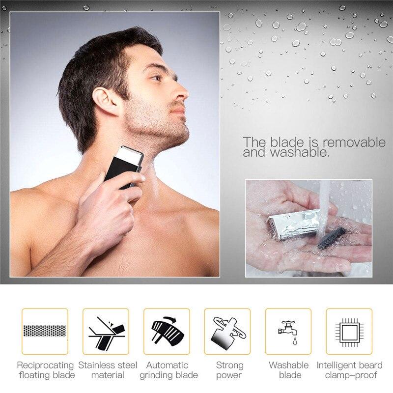 Recarregável poderoso barbeador elétrico com alternativo flutuante