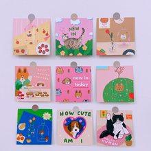 일본 만화 고양이 카드 엽서 방 벽 장식 스티커 사진 소품 카드 방수 작은 포스터 장식 용품