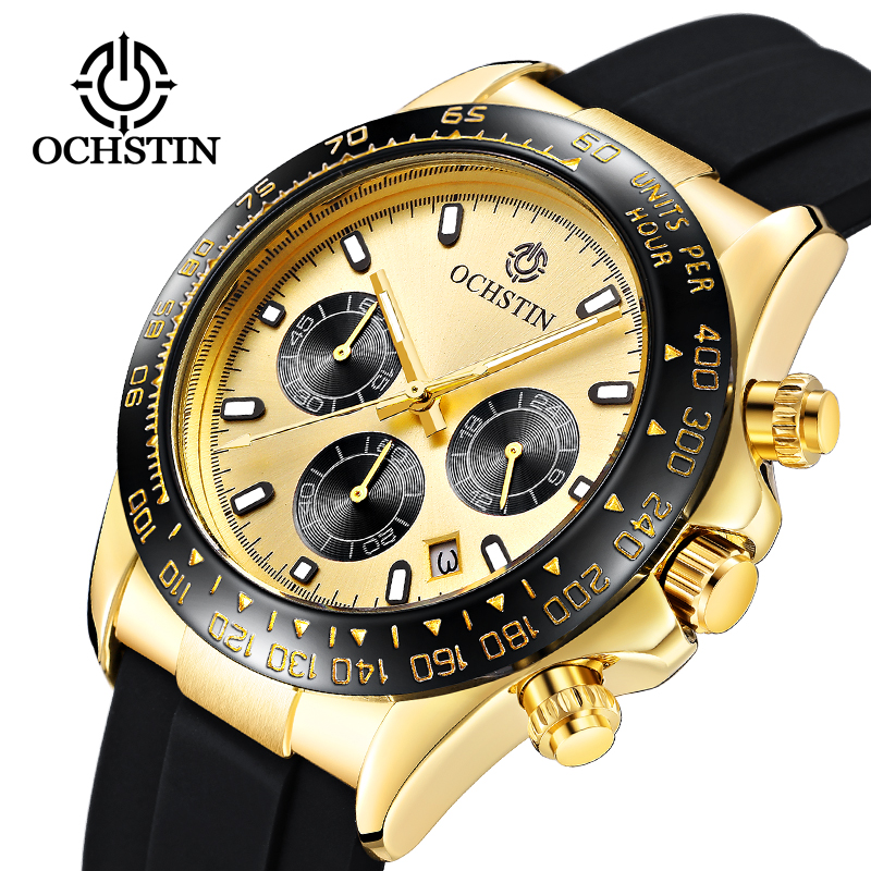 OCHSTIN Brands 2020 New Men's Watches Sport Quartz Watch Men Steel Waterproof Clock Male Fashion Chronograph Relogio Masculino