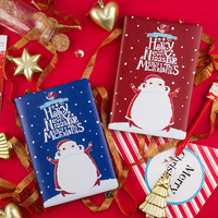 A5 Kawaii Christmas Notebook Cute Santa Claus PU Cover Bullet Journal For Boys Girls Writing Stationery Supplies Gift Package