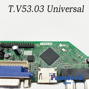 T. V53.03 Универсальный ЖК ТВ контроллер драйвер платы ПК/VGA/HDMI/USB интерфейс + 7 клавишная плата + 1 лампа инвертор