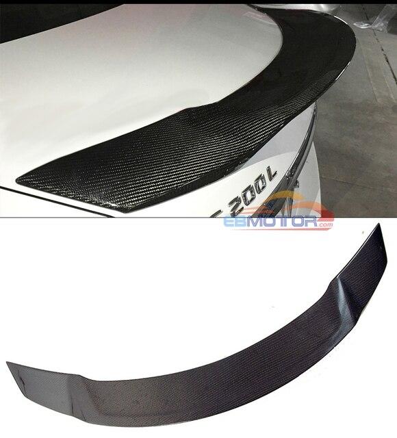 Real Carbon Fiber Tail Trunk Lid Spoiler for Mercedes Benz W205 Sedan 4D 15-16 M123 1