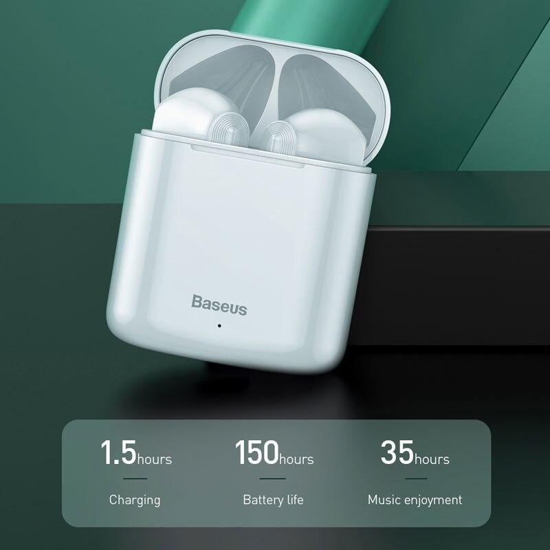Image 3 - Baseus W09 TWS Wireless Earphone Bluetooth 5.0 Headphone Mini  Earbuds With Charging Box Stereo Sports True Wireless Headset  SaleBluetooth Earphones