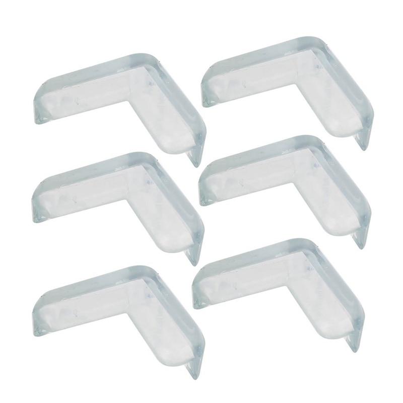 Hot-6 Pcs Soft Rubber Desk Corner Pad Cover Protector Cushion Transparent