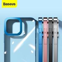Baseus-funda enchapada para iPhone 13 Pro Max, cubierta transparente de protección de lente completa, a prueba de golpes, nueva, 2021