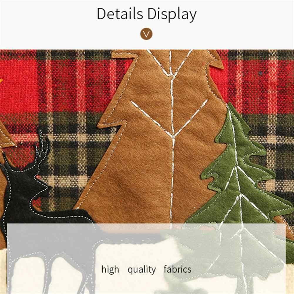 35x180cm Xadrez Mesa de Pano Corredor Da Tabela Serapilheira Natal Guardanapo de Natal Decoração Lenhador Temáticos da Festa de Aniversário Decoração