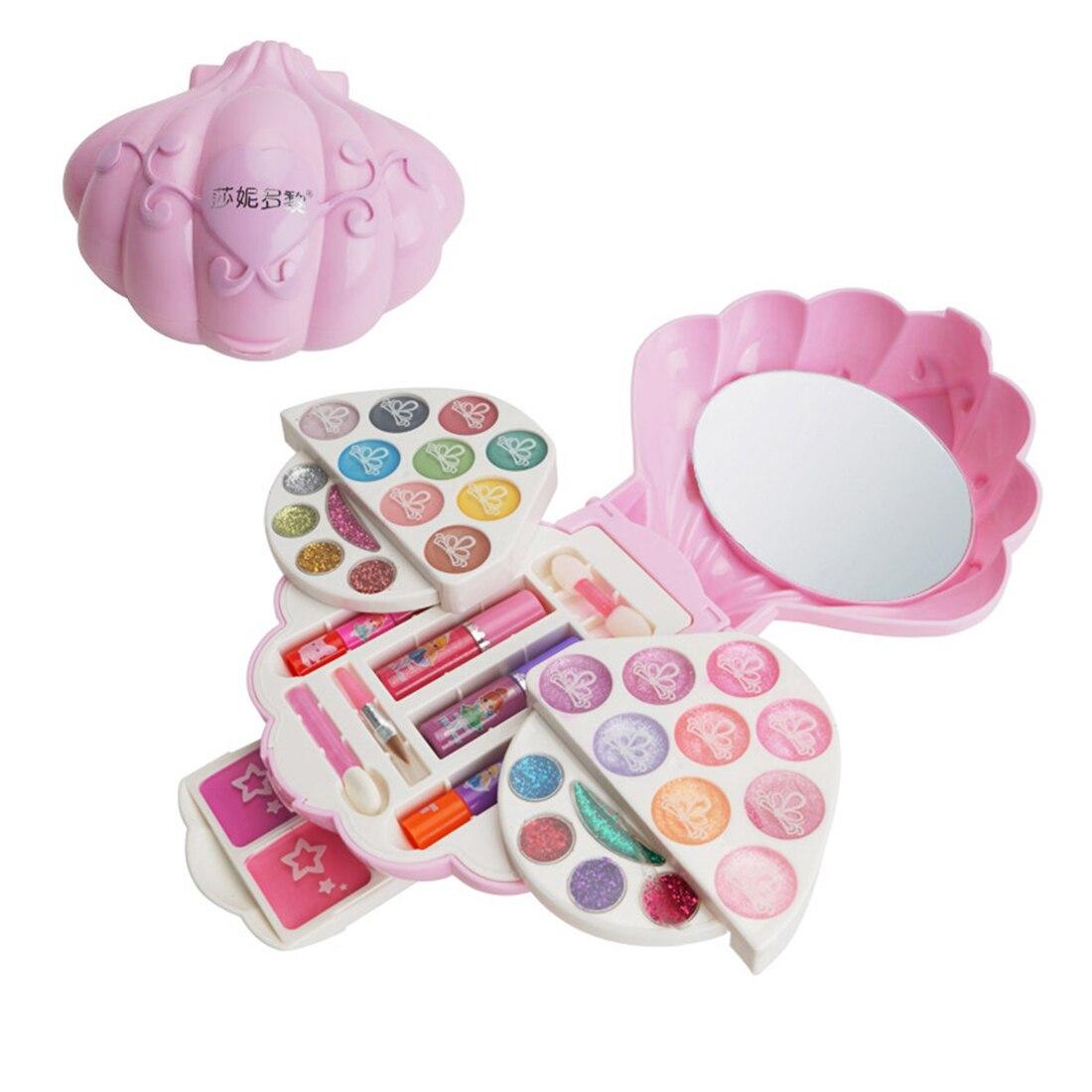 Детские ролевые игры водорастворимые игрушки для макияжа с футляром для косметики