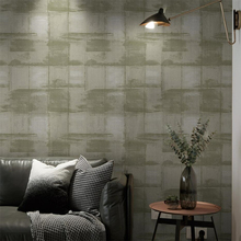 Retro industrial wind striped plaid wallpaper shop decoration Nordic gray hotel clothing store restaurant dedicated