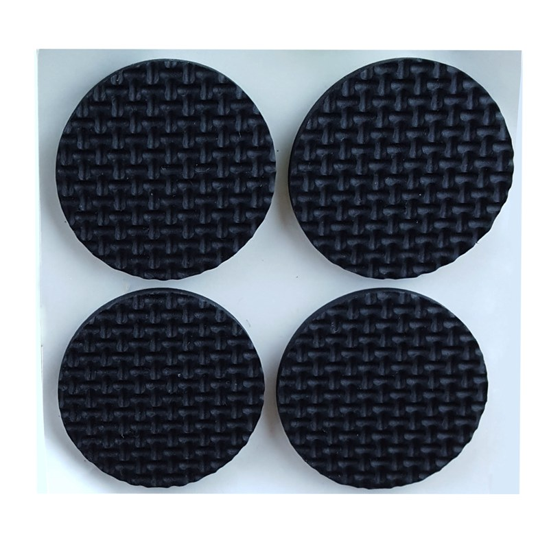 Home Round Shaped Furniture Feet Protection Pad Cushion Mat 8pcs Black