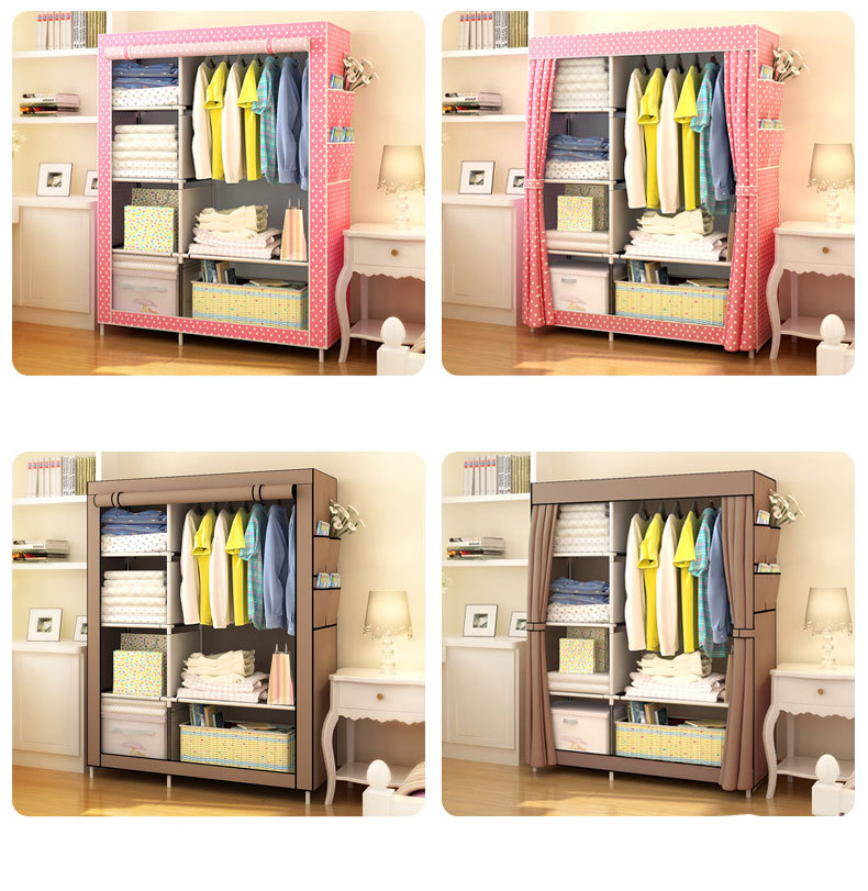 Image 5 - Bedroom Furniture Wardrobe Bedroom Cabinet Cloth Room Storage Assembly Multifunction Simple And Modern Furniture Closet JC042Wardrobes   - AliExpress