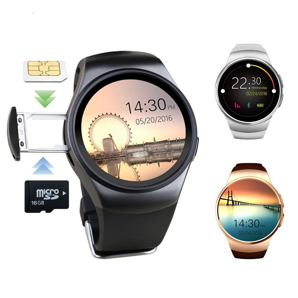 KW18 Bluetooth montre intelligente plein écran prise en charge SIM TF carte Smartwatch téléphone fréquence cardiaque pour apple huawei xiaomi hommes femmes sports