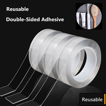 Reusable Double Sided Adhesive Traceless Tape Removable Sticker Washable Adhesive Home Improvement Reusable Transparent Tape