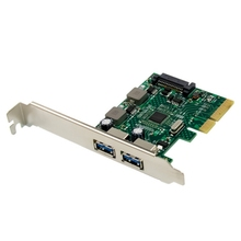 PCI-E 3.0 X4 ASm3142 Dual Port Super High Speed 10G TYPE A USB3.1 Built-in Expansion Card for PC
