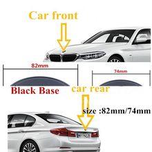 10pcs 82mm 74mm Black Base Car Emblem Badge BONNET Hood Front Rear Trunk For E46 E39 E38 E90 E60 E36 E71 X1 X3 X6 51148132375