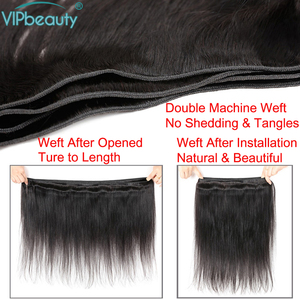 Image 5 - VIP Schoonheid Maleisische Steil Haar 4 Bundels 100% Human Hair Weave Remy Hair Extensions Natuurlijke Zwarte Kleur Haar Inslag